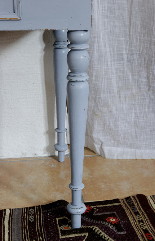 Gustavianskt blått avlastningsbord    SÅLT