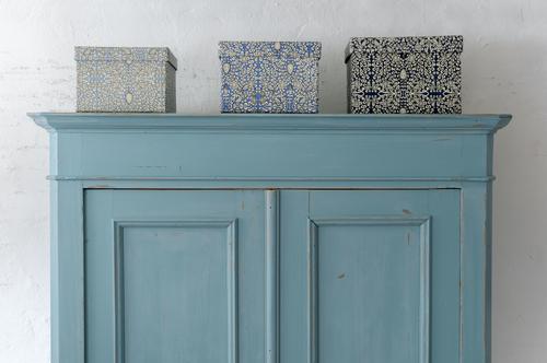 Underbart skåp i blå/turkost med dubbla dörrar   SÅLT