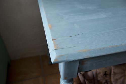 Turkost gammalt bord     SÅLT