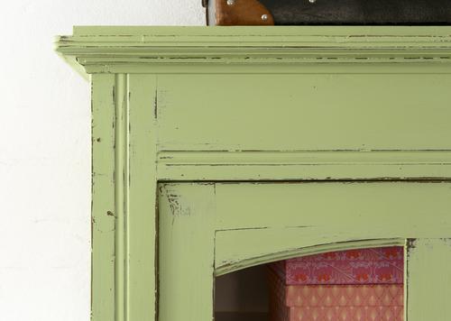 Grönt skönt vitrinskåp    SÅLT